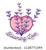 blooming love cartoons   Shutterstock .eps vector #1138771394