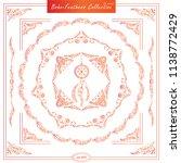 vector set of vintage square... | Shutterstock .eps vector #1138772429
