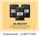 petroleum barrels oil industry | Shutterstock .eps vector #1138777334