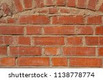 red brick wall texture | Shutterstock . vector #1138778774