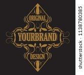 antique label  vintage frame... | Shutterstock .eps vector #1138780385