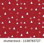 christmas seamless repeat... | Shutterstock .eps vector #1138783727
