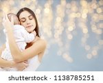 family and motherhood concept   ... | Shutterstock . vector #1138785251