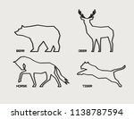 abstract animal silhouettes.   Shutterstock .eps vector #1138787594