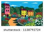 sunny day in the garden near... | Shutterstock .eps vector #1138792724