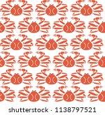 snow crab pattern vector.... | Shutterstock .eps vector #1138797521