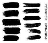 vector set of hand drawn brush... | Shutterstock .eps vector #1138801661