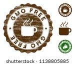 gmo free medallion stamp.... | Shutterstock .eps vector #1138805885