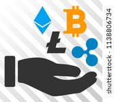 cryptocurrency investment hand... | Shutterstock .eps vector #1138806734