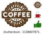 caffeine reward medallion stamp.... | Shutterstock .eps vector #1138807871