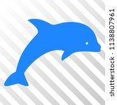 dolphin vector pictograph. an... | Shutterstock .eps vector #1138807961