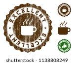 excellent medallion stamp.... | Shutterstock .eps vector #1138808249