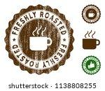 freshly roasted medallion stamp.... | Shutterstock .eps vector #1138808255