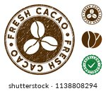 fresh cacao brown stamp. vector ... | Shutterstock .eps vector #1138808294