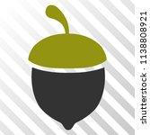 oak acorn vector pictograph. an ... | Shutterstock .eps vector #1138808921