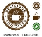 delicious medallion stamp.... | Shutterstock .eps vector #1138810481