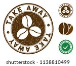 take away brown stamp. vector... | Shutterstock .eps vector #1138810499