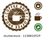 coffee shop medallion stamp.... | Shutterstock .eps vector #1138810529