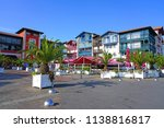 hendaye  france  8 jul 2018 ... | Shutterstock . vector #1138816817
