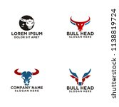 bull head logo | Shutterstock .eps vector #1138819724