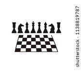 chess logo design | Shutterstock .eps vector #1138819787