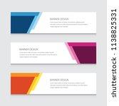 abstract banner design vector... | Shutterstock .eps vector #1138825331
