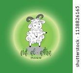 cute funny sheep  vector... | Shutterstock .eps vector #1138826165