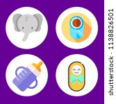 simple 4 icon set of baby... | Shutterstock .eps vector #1138826501