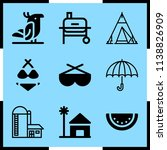 simple icon set of summer... | Shutterstock .eps vector #1138826909