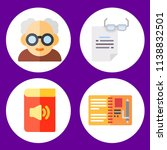 simple 4 icon set of book... | Shutterstock .eps vector #1138832501