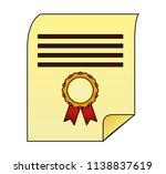 parchment diploma graduation... | Shutterstock .eps vector #1138837619