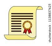 parchment diploma graduation... | Shutterstock .eps vector #1138837625