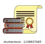 parchment diploma graduation... | Shutterstock .eps vector #1138837685