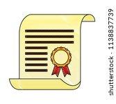 parchment diploma graduation... | Shutterstock .eps vector #1138837739