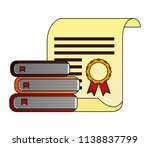 parchment diploma graduation... | Shutterstock .eps vector #1138837799
