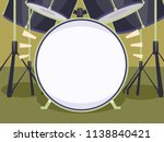 illustration of a drum set with ... | Shutterstock .eps vector #1138840421