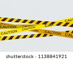 caution lines isolated. warning ... | Shutterstock .eps vector #1138841921