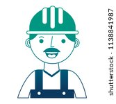 construction man worker with... | Shutterstock .eps vector #1138841987