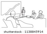 continuous line drawing of... | Shutterstock .eps vector #1138845914