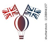 hot air balloon and british... | Shutterstock .eps vector #1138846157