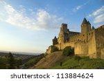 carcassonne at dusk | Shutterstock . vector #113884624