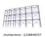 scaffolding frame 3 floors... | Shutterstock .eps vector #1138848557