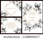 invitation greeting card with... | Shutterstock .eps vector #1138850417