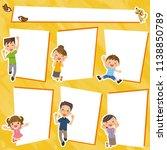 family frame collection. | Shutterstock .eps vector #1138850789