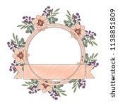 frame with beautiful flower and ... | Shutterstock .eps vector #1138851809