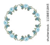 frame with beautiful flower... | Shutterstock .eps vector #1138851845