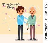 grandparents day card   Shutterstock .eps vector #1138853177