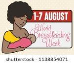 beautiful young brunette mom... | Shutterstock .eps vector #1138854071