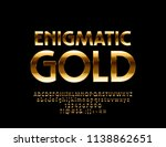 vector dark enigmatic gold font.... | Shutterstock .eps vector #1138862651