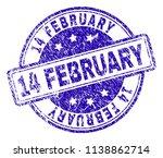 14 february stamp seal imprint... | Shutterstock .eps vector #1138862714